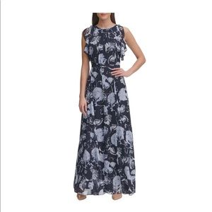 Tommy Hilfiger, 6, Blue Floral Maxi Dress